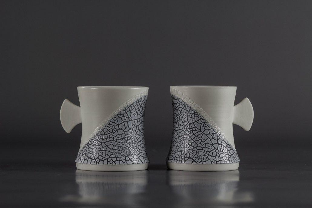Tasse porcelaine grises