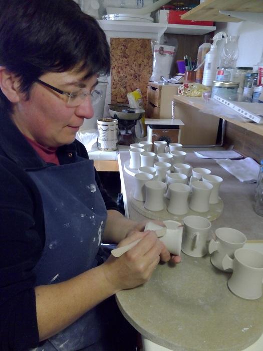 Pose d'anse tasse céramique